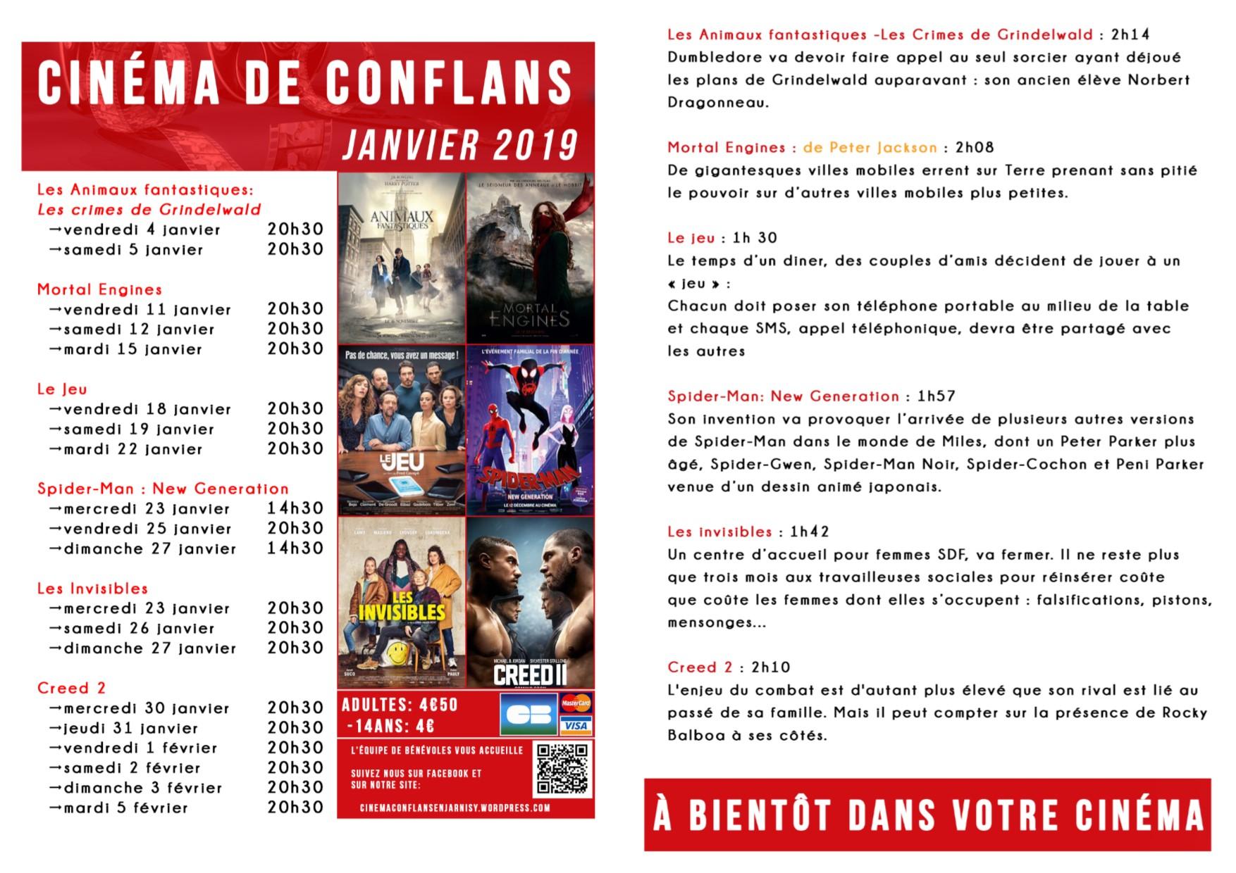 programme janvier 2019